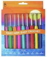 Pony Easy Grip Flat Finger Crochet Hook Set 9 Hooks sizes 2mm - 6mm - P56810