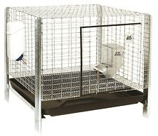 "PET LODGE COMPLETE RABBIT HUTCH Dropping Pan Feeder Waterer  24"" x 24"" x 16"""