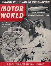 Motor World magazine  June 5, 1953  SCCA at Golden Gate, Ferrari 250MM