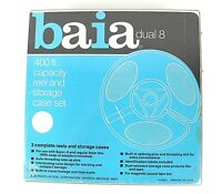 Baia dual 8 8mm 400 ft. capacity reel and storage case set - New Sealed 3 pack