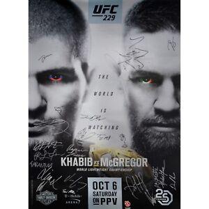 UFC 229 Official Autographed Poster