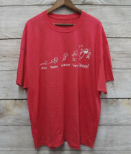 Well Worn Mens Size 3XL Faded Red Days of the Work Week Party T-Shirt New