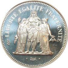 O7307 FINEST 50 Francs Piefort Hercule 1975 PCGS SP68 Argent Silver FDC