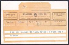 CARTOLINA TELEGRAMMA 01 BUON NATALE - BUON ANNO circa 1903