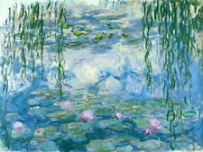 Claude Monet Water Lilies Poster Reproduction Paintings Giclee Canvas Print