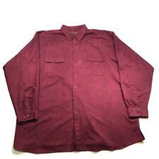 George Foreman 4XL TALL Soft Suede Button Down Burgundy Shirt