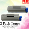 2-Pack Black Toner for Okidata Oki C5500 C5800 C5900 C5500N 43324404 HIGH YIELD