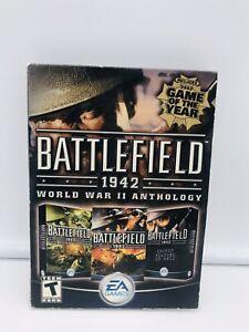 Battlefield 1942: World War II Anthology (PC, 2004) Video Game 4 Disc Set