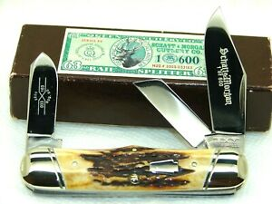 SCHATT & MORGAN,2005, # 63 RAILSPLITTER KNIFE, SUPER PRETTY STAG, NICE & MINT