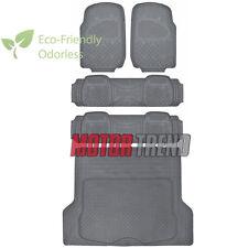 HD Rubber Floor Mats Cargo Liner Combo 5pc Non-Toxic MOTORDREND - Gray