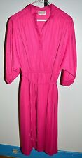 Vintage Années 1970 / Année 1980 Jimmy Los Angeles Rose Polyester Robe Taille 14