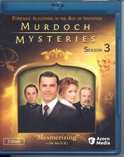 Murdoch Mysteries: Season Three (Blu-ray Disc, 2011, 4-Disc Set)