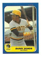 1986 Fleer Update #U-14 Barry Bonds Rookie RC