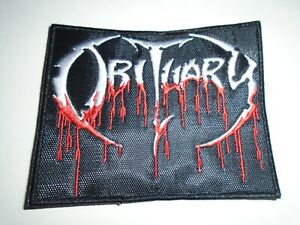 OBITUARY BLOOD DRIP EMBROIDERED PATCH