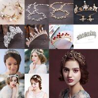 Fashion Bridal Wedding Prom Bridesmaid Flower Crystal Headband Tiara Jewelry