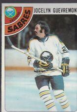 1978-79 TOPPS HOCKEY JOCELYN GUEVREMONT #94 SABRES NMMT/MINT *54796