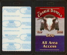 Charlie Daniels Band Laminated All Access Backstage Pass from his 2005 Tour