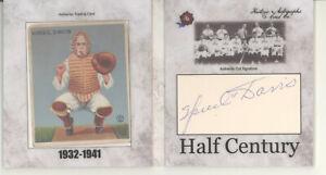 Spud Davis auto booklet 1933 Goudey card 2020 Historic Half Century Phillies