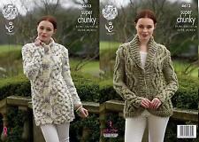 King Cole 4613 Knitting Pattern Cardigan & Coatigen Big Value Super Chunky Twist