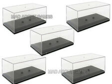5 x MODEL DISPLAY CASE 1:43 Plastic Acrylic Box Models Diecast Car Spare Lot