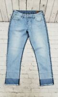 Asos Frayed Hem Cropped Jeans To Fit Waist WOMENS SIZE W 30