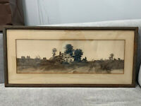 Antique Ernest Christian Rost Listed Artist Landscape Etching Print
