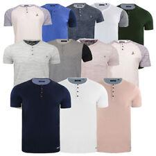 Mens short sleeve T Shirt Granddad Collar Top By Brave Soul