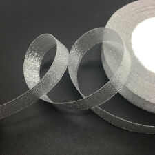 "50yds/Roll 5/8""(15mm) Sheer Organza Ribbon Bow Hair Wedding DIY Craft"