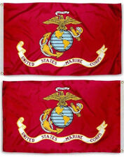 3x5 USMC Marine Corps Marines Double Sided Knitted Nylon Flag 3ft x 5ft Banner
