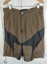 Fox racing shorts mens size 36 padded brown gray