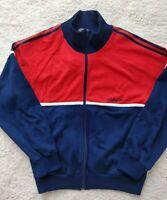Adidas Originals 80's France Vintage Mens Track Jacket Hype Sweatshirt Navy Red