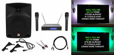 "Rockville 10"" Powered Karaoke Machine/System w/LED's+(2) Wireless Microphones"