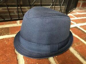 The Children's Place Blue grey bucket fedora hat boys size S 4-6 V8548L0001