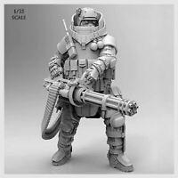 1/35 Machine Gun Soldier Heavy Duty Commando Military Figure Model HQ Resin Kit