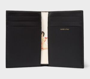 PAUL SMITH Black Leather 'Naked Lady' Card Holder Card Case BiFold Wallet NEW