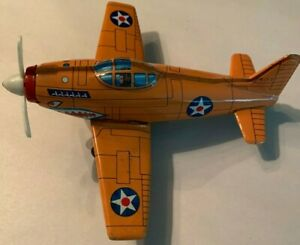 Vintage Marx Toys Tin Airplane Very Rare Made in Japan P-40