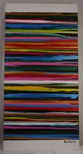 Phil Pierre - STRIPES 113 - new original abstract acrylic art painting on canvas