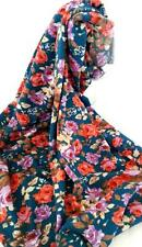 NEW Floral Infinity Scarf Snood Blue, peach, purple roses. Romantic & Stunning
