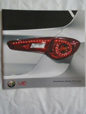 Alfa Romeo price list brochure Aug 2010