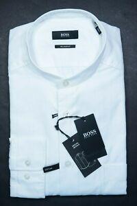 Hugo Boss $278 Frans Men Relaxed Thomas Mason Superfine Soft Line Shirt 41 16