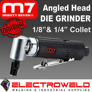 """M7 Air Die Grinder Angle Head 1/8"""" 1/4"""" Collet Lever Throttle Mighty 7 M7-QA611B"""
