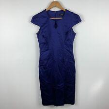 CUE Womens Pencil Dress Size 10 Blue Cap Sleeve Cocktail Dress