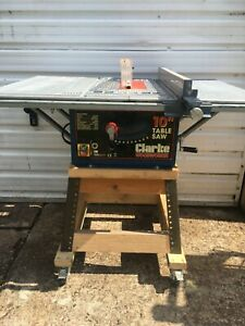 Clarke  CTS10D  1500W  250mm  Bench Table Saw with Side Extensions and Stand .