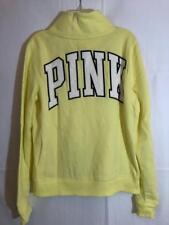 VICTORIA'S SECRET - PINK- Quarter Zip Sweatshirt - YELLOW - SMALL - NWT