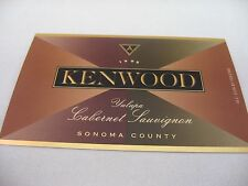 Wine Label: KENWOOD 1995 Yulupa Cabernet Sauvignon Sonoma County California