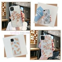 Luxury Glitter Floral Clear Back Case For iPhone 8 XS MAX XR 11 12 MINI PRO MAX