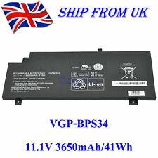 VGP-BPS34 VGP-BPL34 Genuine Battery For Sony Vaio SVF14AC1QL SVF15A1ACXB 41Wh