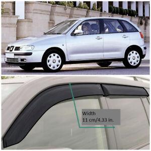 SE10993 Window Visors Guard Vent Wide Deflectors For Seat Ibiza Hb 5d 1993-2002