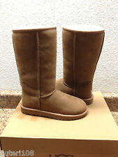 UGG CLASSIC TALL CHESTNUT FULLY FUR LINED SUEDE Boot US 8 / EU 39 / UK 6.5 - NEW