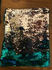Sequin color changing book cover  Blue and Silver 10